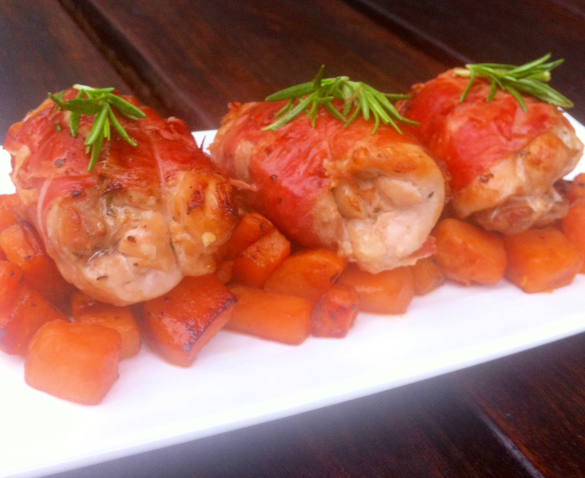 recipe: prosciutto wrapped chicken thighs [32]