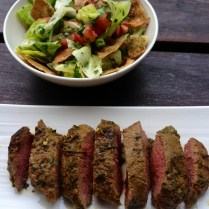 https://thepaddingtonfoodie.com/2012/12/04/a-summer-bbq-fattoush-salad-with-chermoula-crusted-lamb/