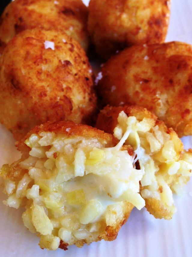 ... Balls. Arancini With Leek, Lemon and Saffron.   The Paddington Foodie