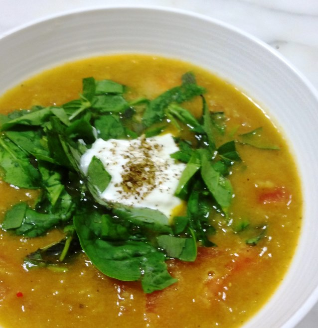 Autumn Flavours. Spiced Red Lentil Soup with Lemon and ...