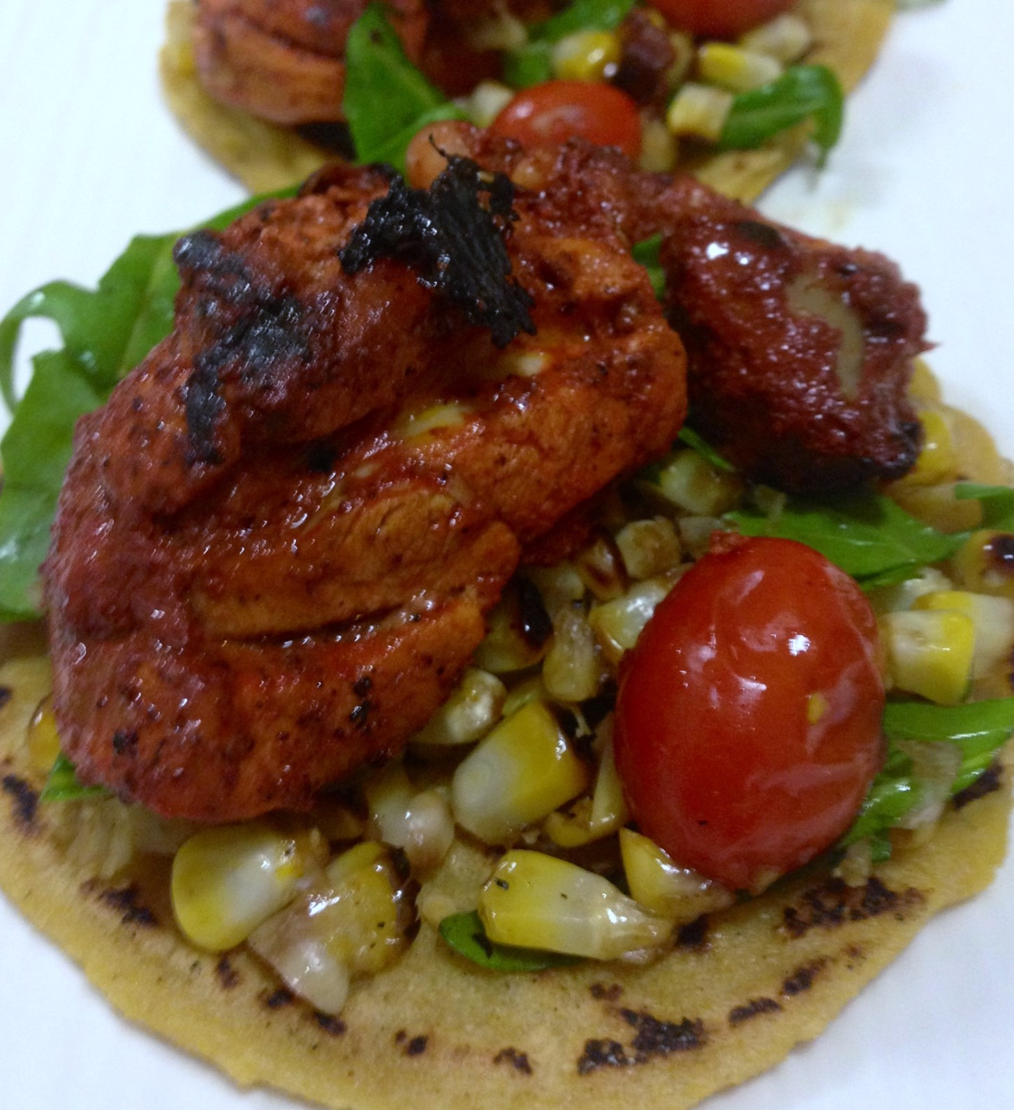 ... Chicken And A Roasted Corn and Grape Tomato Salsa. (376 Calories