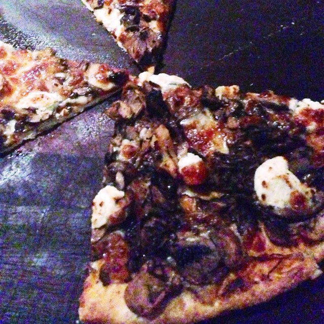 Mushroom and Goats Cheese Pizza