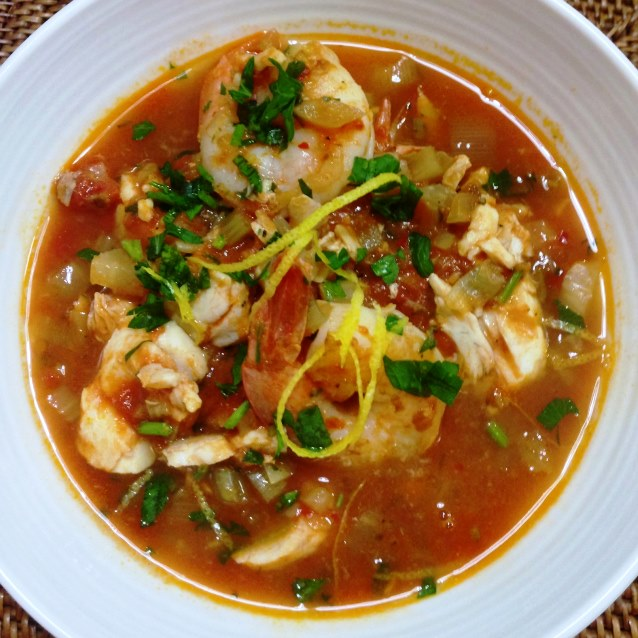 Spicy Mediterranean Seafood Soup