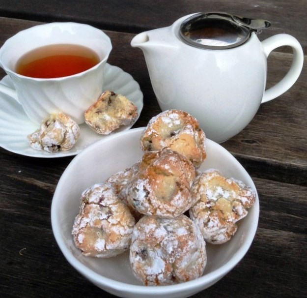 Sour Cherry  Amaretti Biscuits
