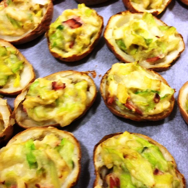 Baked Potato Skins With Colcannon