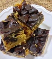 https://thepaddingtonfoodie.com/2013/07/17/melt-mix-no-bake-chocolate-peanut-butter-cornflake-slice/