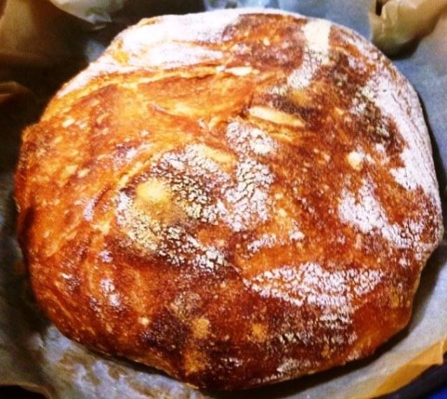 Artisan No Knead Bread Baked