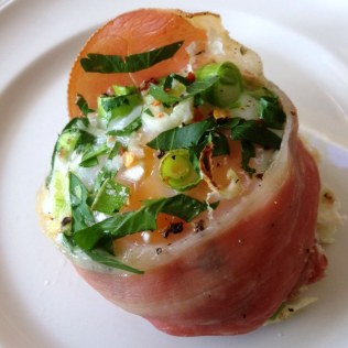 Baked Eggs With Prosciutto