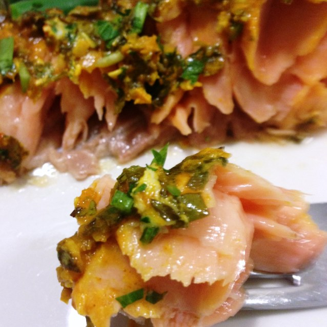 Chermoula Salmon With Preserved Lemon and Soft Herbs
