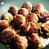 Beef and Lamb Meatballs - Seared