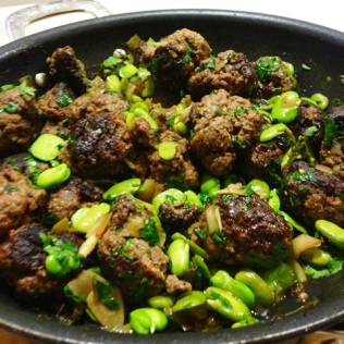 Beef and Lamb Meatballs With Broad beans and Lemon