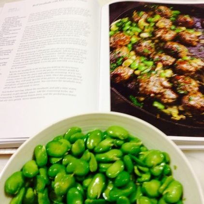 Beef and Lamb Meatballs With Broad Beans
