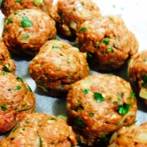 Beef and Lamb Meatballs With Fresh Herbs