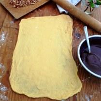 Chocolate Krantz Cake Sweet Yeast Dough