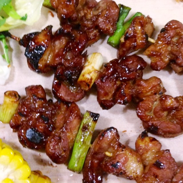 Grilled Pork Belly Skewers Japanese Style