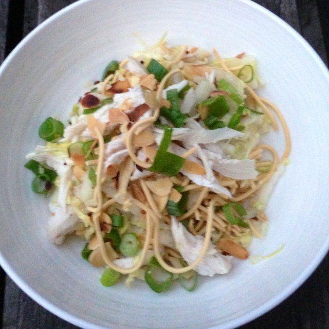 Oriental Cabbage Salad With Shredded Chicken