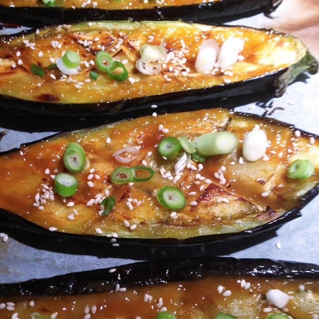 Roasted Eggplant  With A Sweet Miso