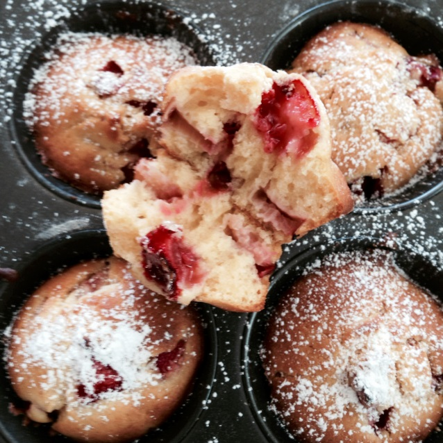 Strawberry and Rhubarb Brunch Muffin