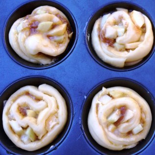 Apple Caramel Cinnamon Scroll Proving