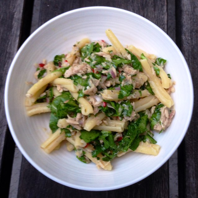 No Cook Penne With Tuna, Rocket and Lemon