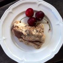 Christmas Pudding Icecream With Cherries