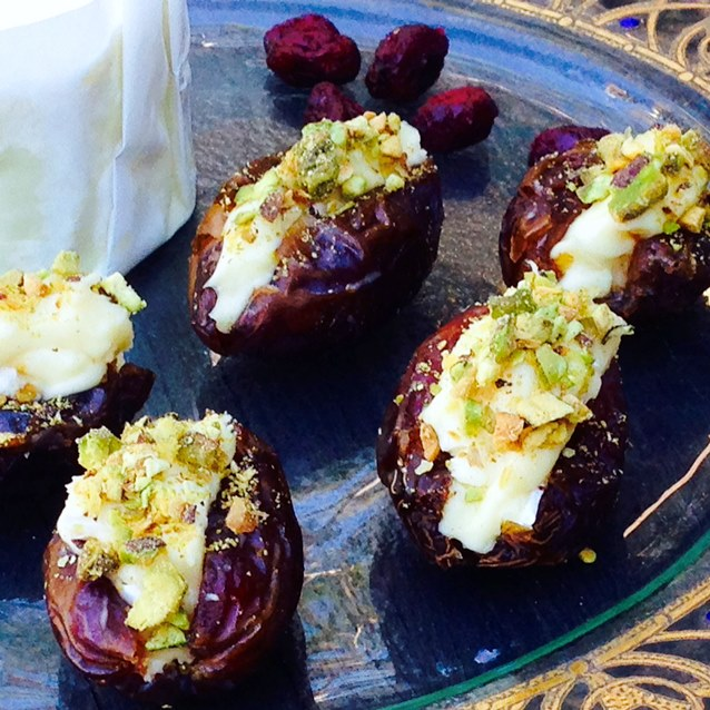 Medjool Dates With Brillat Savarin And Pistachio