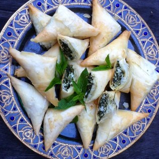 Spinach, Herb and Cheese Phyllo Pastries