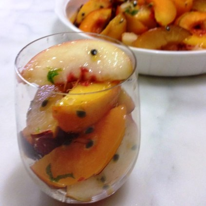 Mexican Style Summer Stone Fruit Salad With Chilli, Lime and Salt