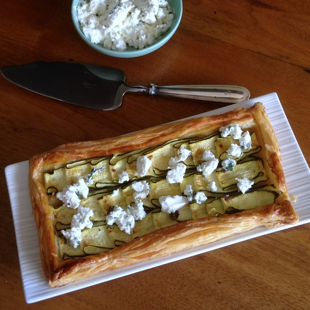 Zucchini Tart With Lemon, Feta and Mint