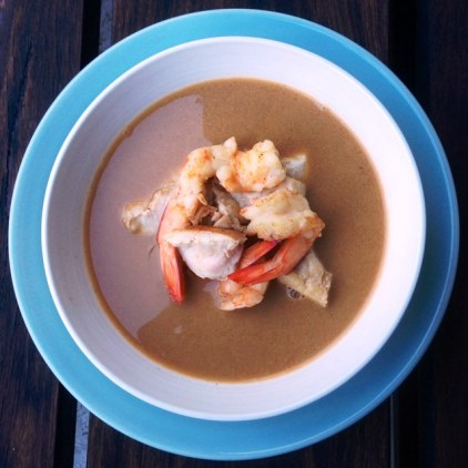 Spicy Thai Coconut Soup With Seafood