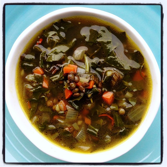 Lemon, Silverbeet and Lentil Soup