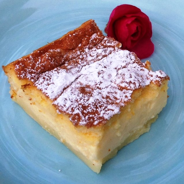 Magic Vanilla Custard Squares