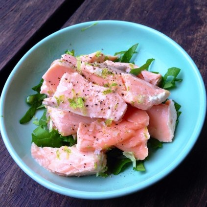 Simple Sous Vide Salmon Flaked