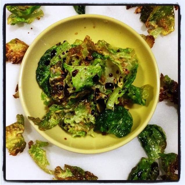 Crispy Roasted Brussels Sprouts With Balsamic Vinegar and Sea Salt