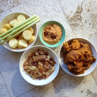 Malaysian Beef and Potato Curry Ingredients