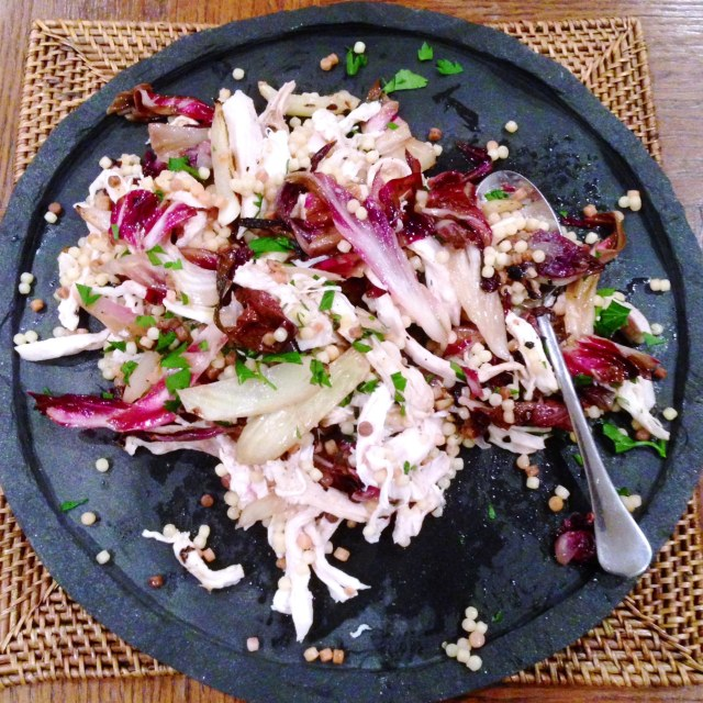 Warm Chicken And Fregola Salad With Charred Radicchio and Fennel