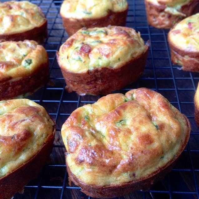 Savoury Zucchini And Bacon Muffins