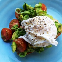 Avocado Salsa With Poached Egg