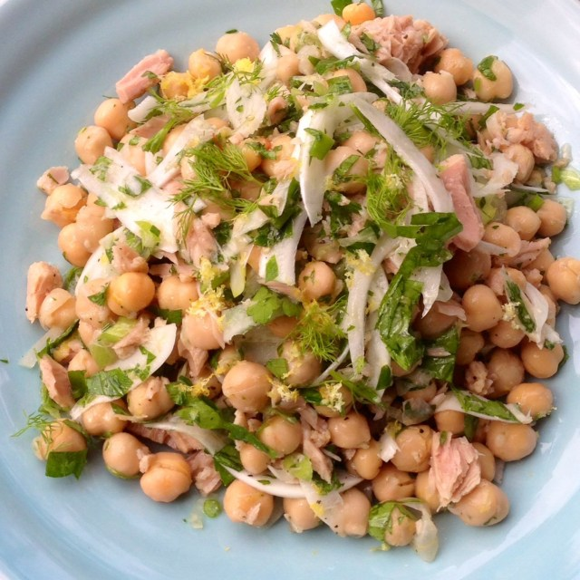Chickpea, Tuna and Fennel Salad