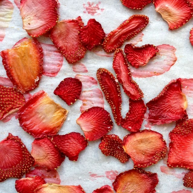 Oven Dried Strawberries After 2 Hours