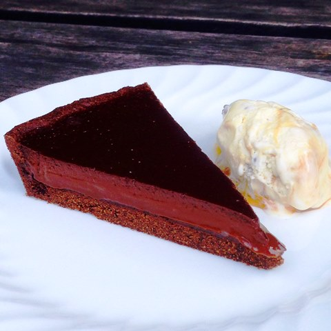 Bittersweet Chocolate Ganache Tart Scented With Cointreau