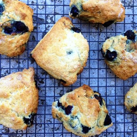 Blueberry And Lemonade Cream Scones