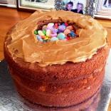 Ombre Pinata Cake Construction