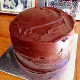 Ombre Pinata Ganache Cake