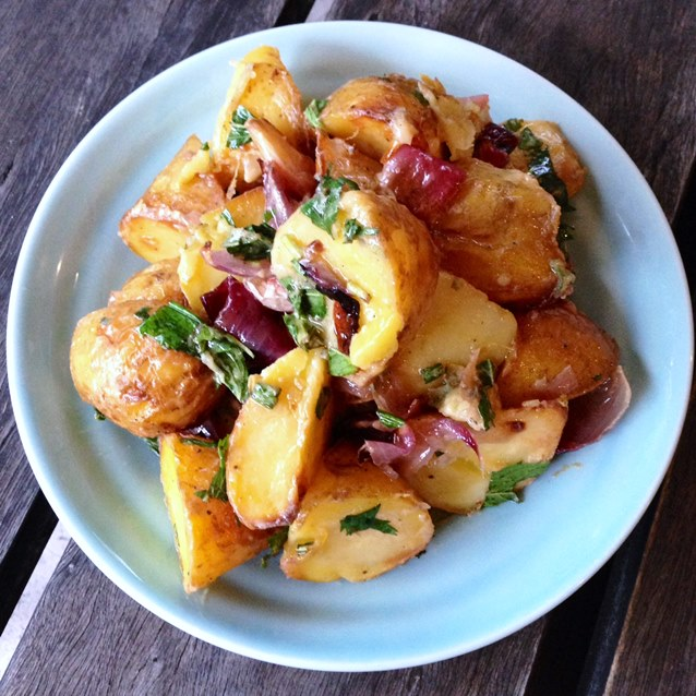 Summer Staples. Roast Potato Salad With Fresh Mint And A Lemon Dijon ...