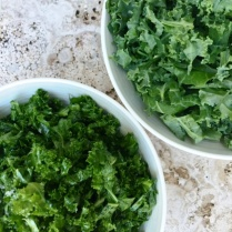Shredded Olive Oil And Lemon Massaged Kale