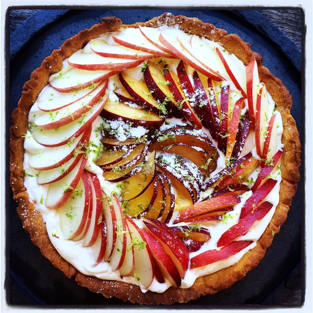 Summer Stone Fruit & Whipped Creme Fraiche Tart