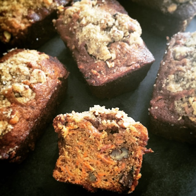 Little Carrot Muffin Loaves With Streusel Topping