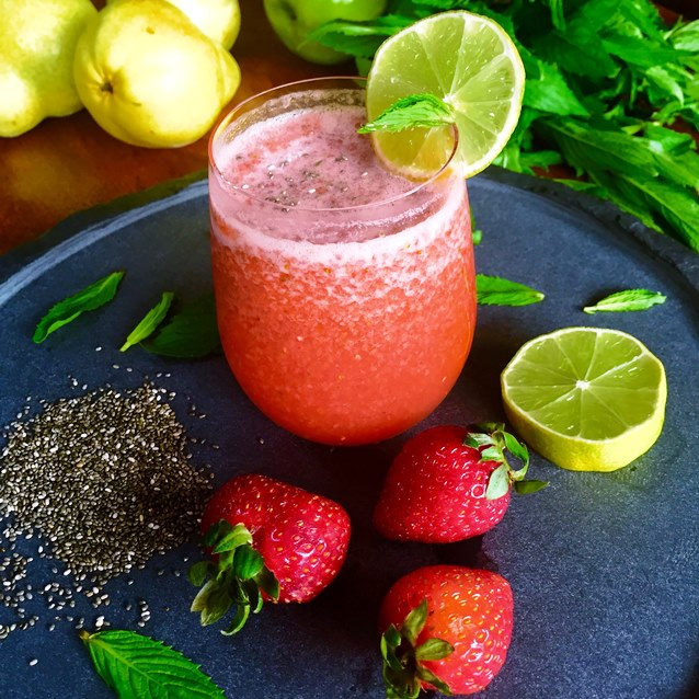Strawberry Chia Agua Fresca
