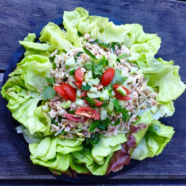 Larb Gao.Thai Chicken Salad